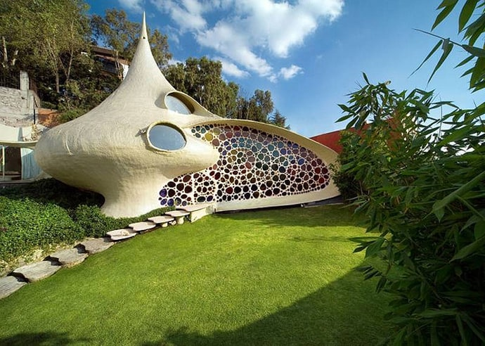 Image result for The Nautilus House, Mexico DF
