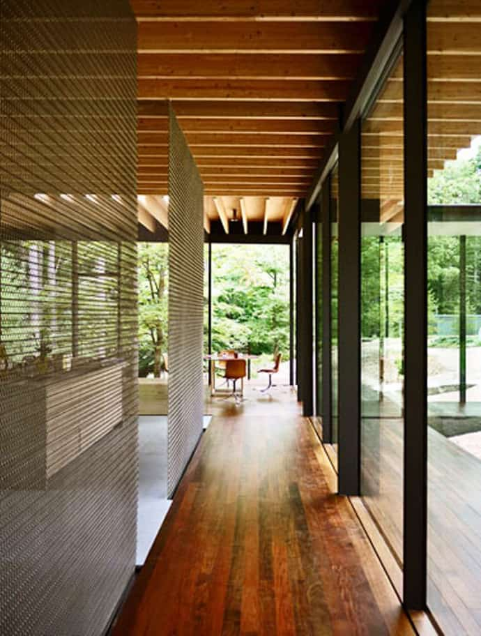 Glass Wood House New Canaan Connecticut By Kengo Kuma