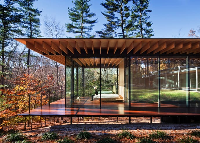 GlassWood House New Canaan Connecticut By Kengo Kuma