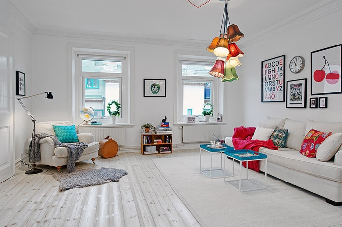 adorable bright and cozy scandinavian interior design for a small