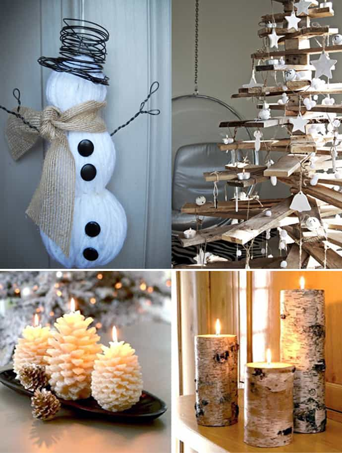 20 natural christmas decorations for a lovely home for Easy to make christmas decorations at home