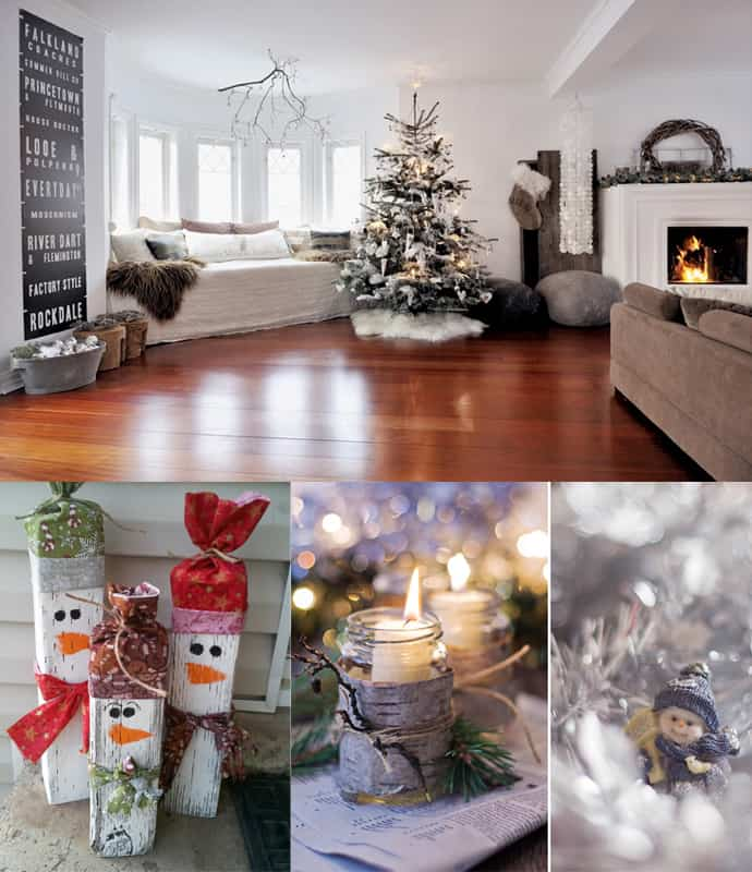 30 living room christmas decorations for Interior home christmas decorations