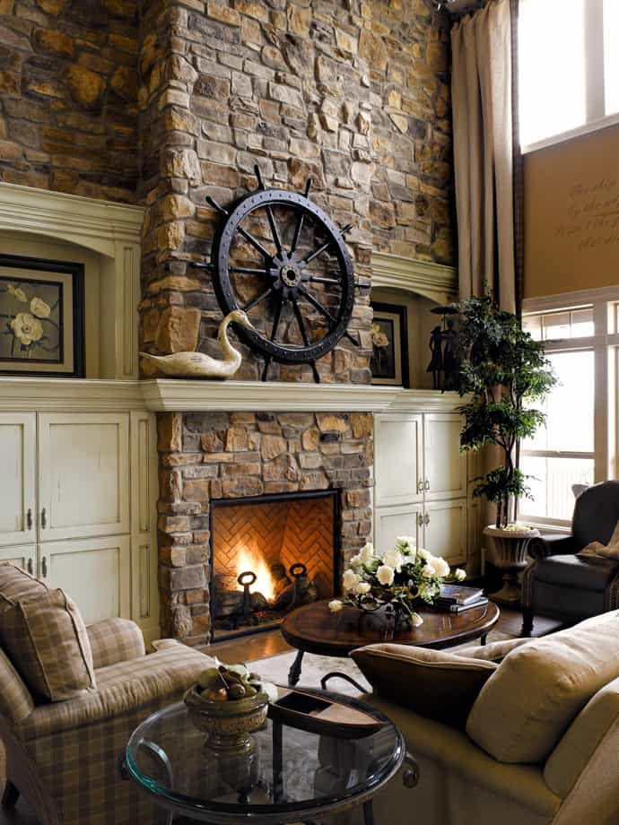 25 stone fireplace ideas for a cozy nature