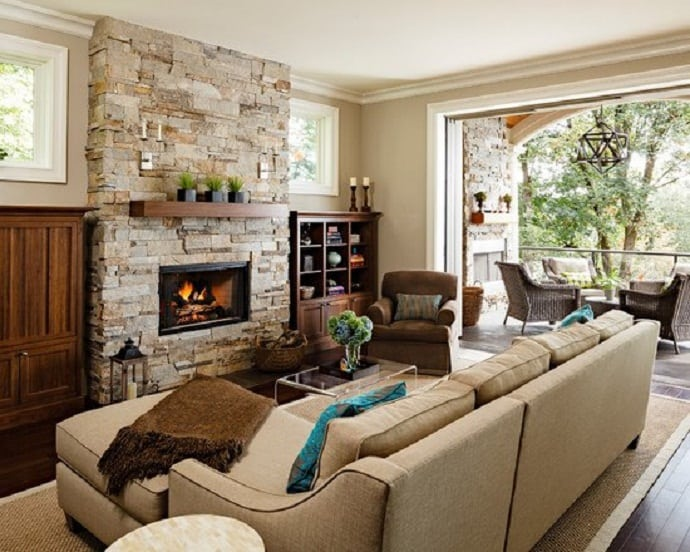 Stone Fireplace Ideas Part - 26: Fireplace