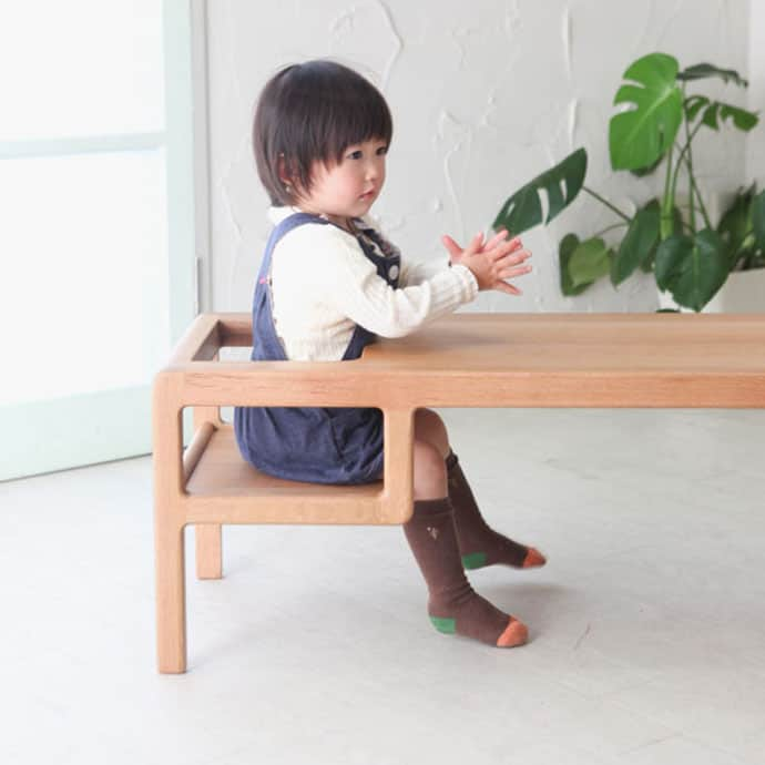 Baby In Table A Table With Built In Baby Seat By Toa Ringyo