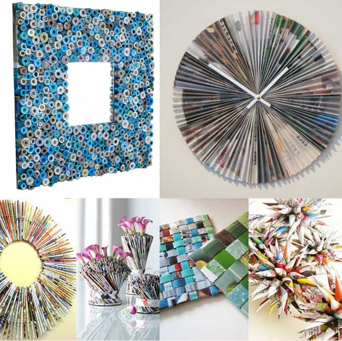 diy home decor recycled diy ideas best recycled magazines projects 10752