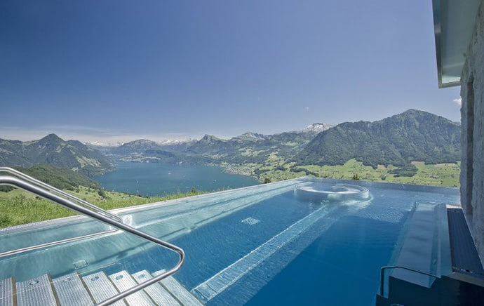 Villa Honegg A Luxury Hotel With The Most Beautiful Pool