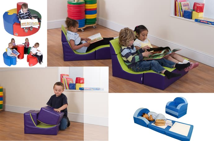 Beanbags Cushions Loungers And Modular Sofa Seating For Kids