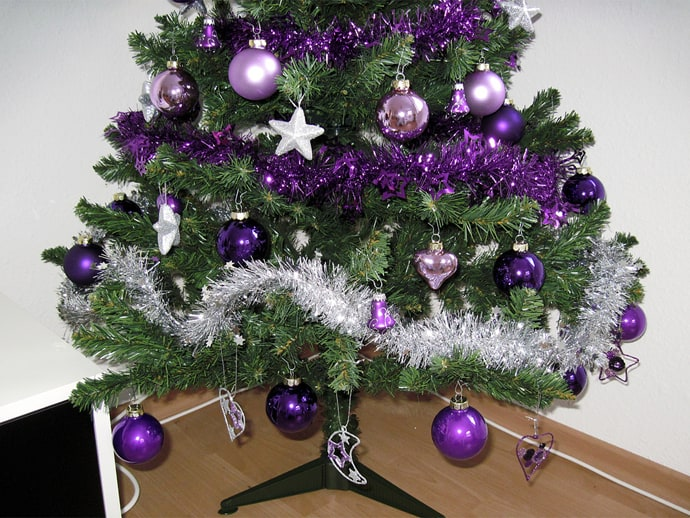 comments - Purple And Silver Christmas Decorations