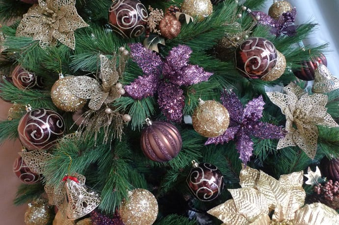 comments - Purple And Gold Christmas Tree Decorations