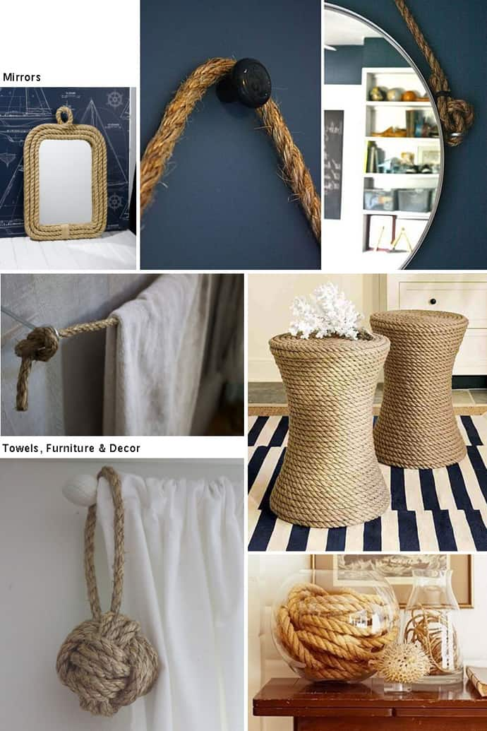 20 Rustic Interior Decorations With Ropes And Balls Of Yarn