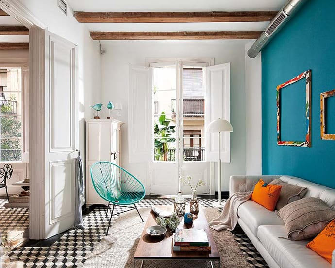 Barcelona Style Retro Modern Interior Design Project By
