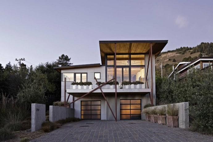Stinson Beach House Great Combination Between Modern