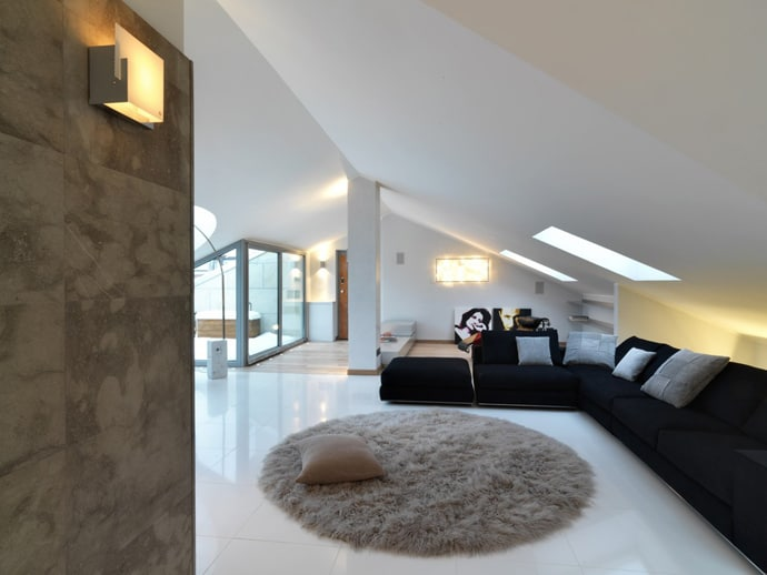 Attic apartment design italy by studio damilano for Apartment design case study