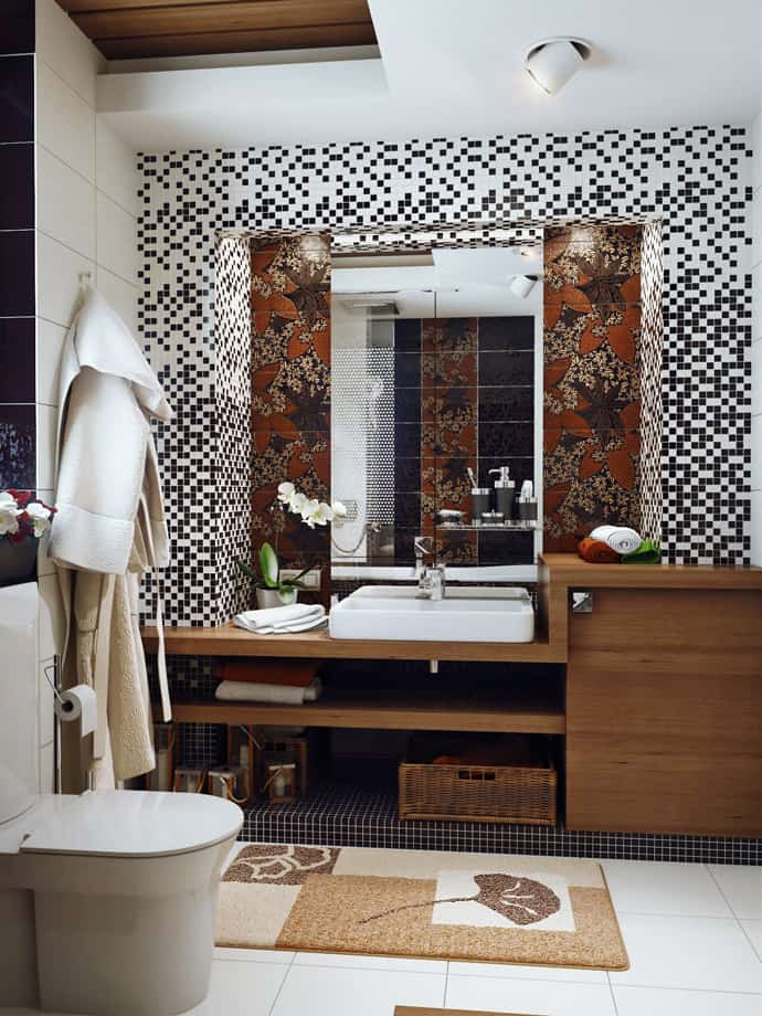 7 Modern Bathroom Designs with Different Special Color ...