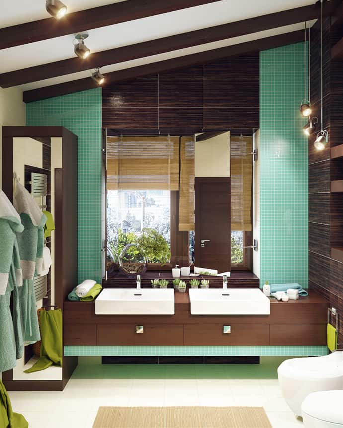 7 Modern Bathroom Designs With Different Special Color