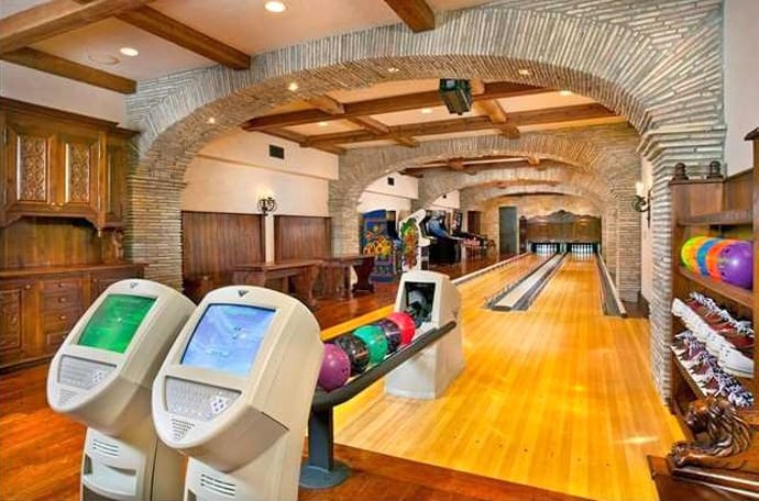 30 suggestions for home installed bowling alley lanes - Game room in house ...