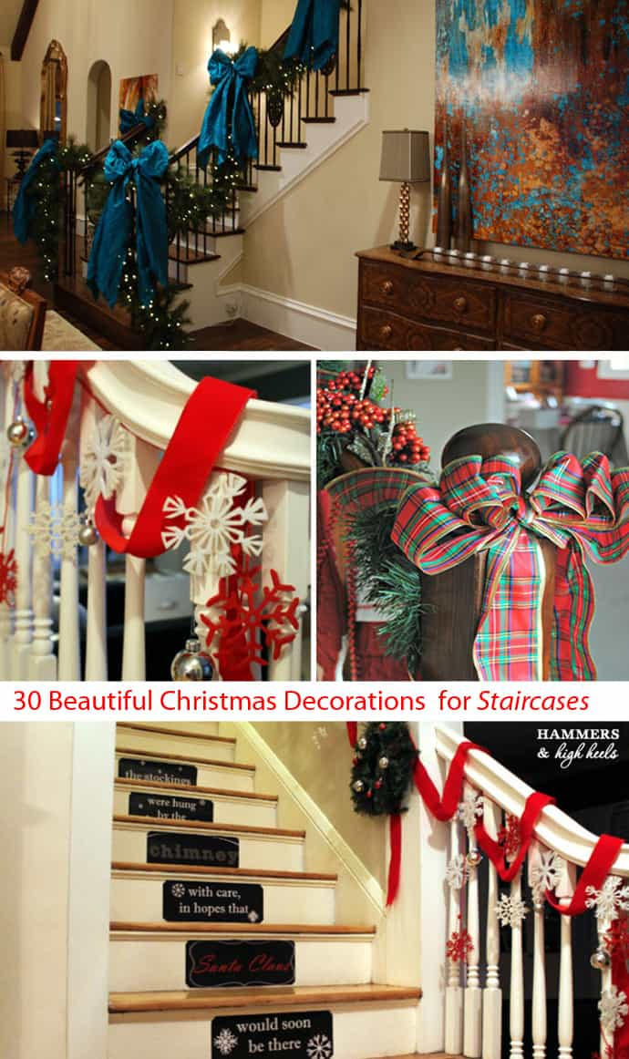 just a few more days till christmascan you believe it i love christmas and i love christmas decorations each year we seem to have more we want to do - Pictures Of Stair Rails Decorated For Christmas