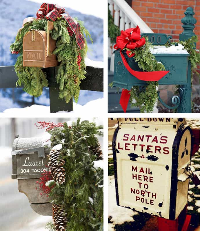 30 ideas to dress up your mailbox in a fairy tale look for this christmas - Christmas Mailbox Decorations Ideas