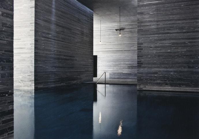 Organized Bathroom Thermal Baths in Vals ...