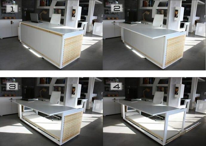 Desk Convertible to Bed by Athanasia Leivaditou designrulz (1)