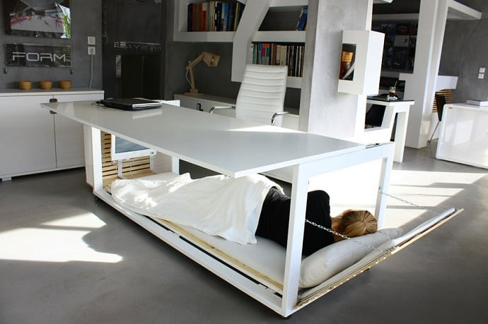 Desk Convertible to Bed by Athanasia Leivaditou designrulz (3)