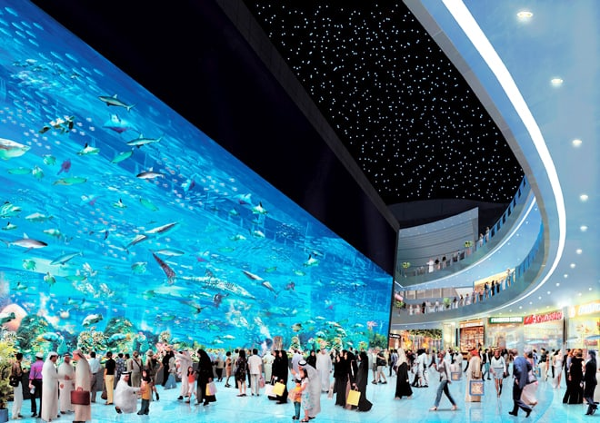 The World S Largest Shopping Mall Dubai With Aquarium And
