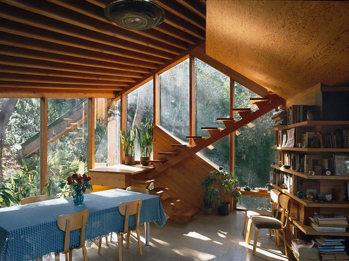 Amazing Wooden Home Walstrom House By John Lautner