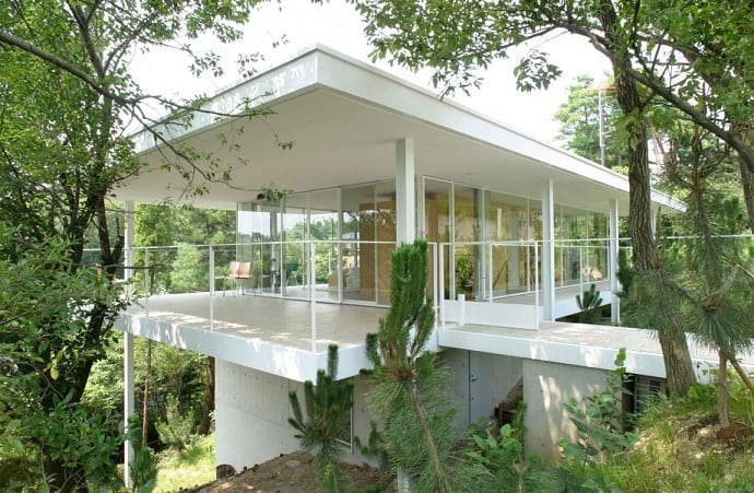 Suishouen House Amazing Project Inspired By Mies Van Der Rohes Work