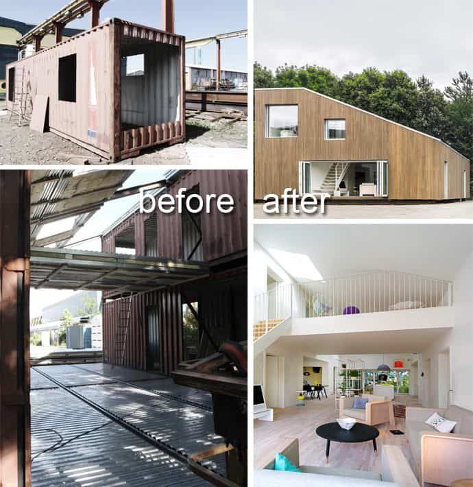 Modern residence made of shipping containers - How to make a home from shipping containers in new ...
