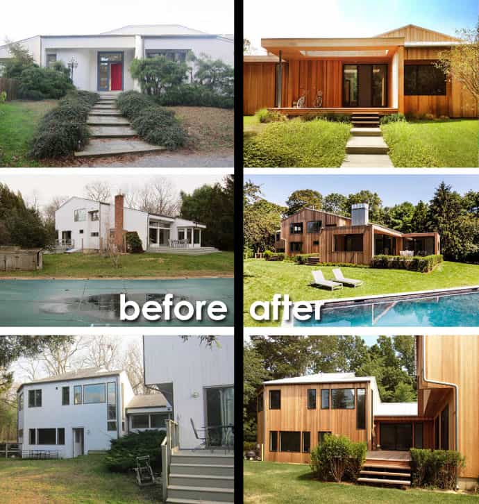 7 Amazing Houses Built Into Nature: Amazing Transformations For Hedge Row Lane House, NY