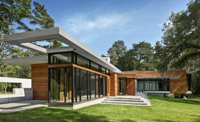 The Contemporary Glass House Brays Island Home by SBCH Architects
