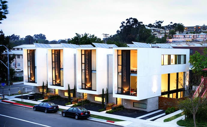 Modern and sustainable individual town homes by jonathan for Town house plans modern