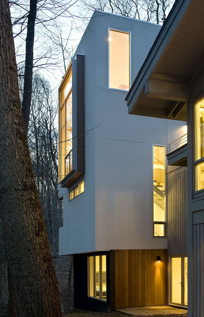 Forest house by kube architecture - Maison design foret kube architecture ...