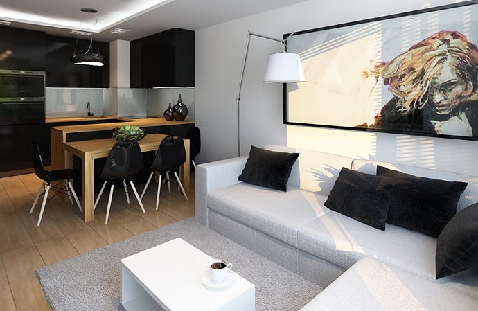 A 60 m stylish apartment by ad design studio poland for 60m2 apartment design