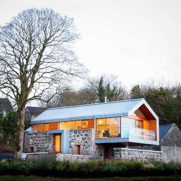 Stone And Glass Barn Contemporary Style For A Traditional