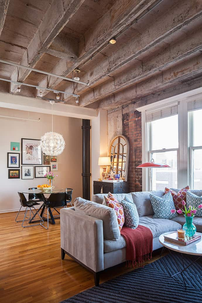 Amazing Eclectic Loft Apartment By Kristina Wilson Design