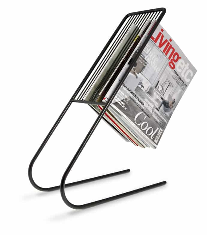float magazine rack black