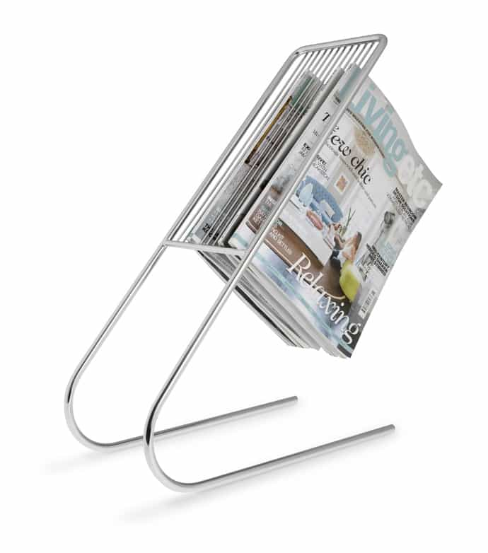 float magazine rack chrome