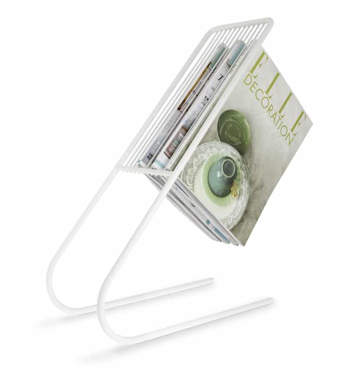 float magazine rack white