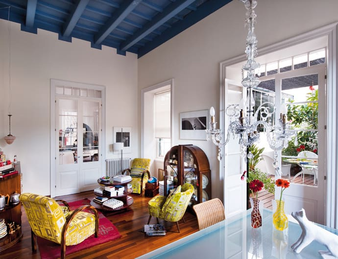 Mediterranean look with art deco vintage influences spain for Eclectic interiors