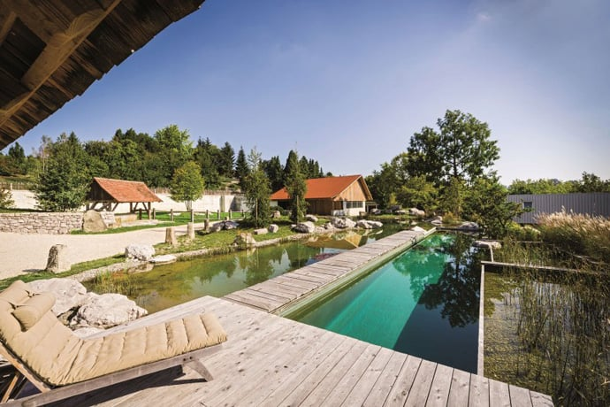 Private pool with natural water by balena gmbh for Pool design gmbh