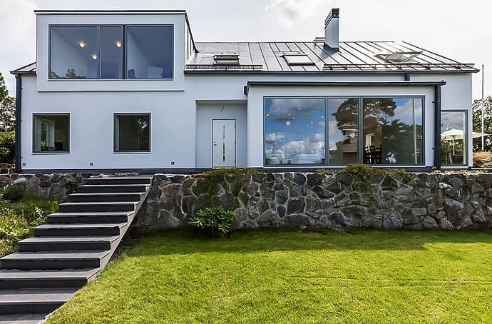 scandinavian form and functionality villa p by grad arkitekter. Black Bedroom Furniture Sets. Home Design Ideas