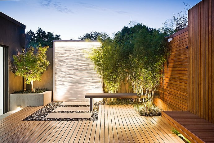 Landscape design by c o s design - Wasserwand outdoor ...