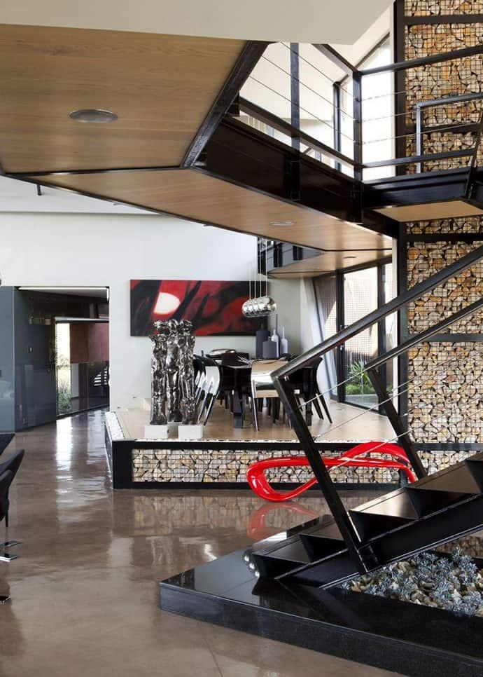 Biệt thự hiện đại được vật chất hóa trong vùng hoang dã - Nhà Tsi của kiến trúc sư Nico van der Meulen (10)