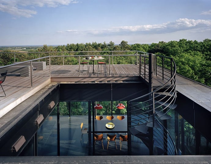 Contemporary Residence Watermill Houses By 1100 Architect