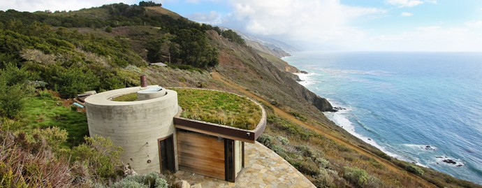 Seaside House Designs Buried Into The Hillside