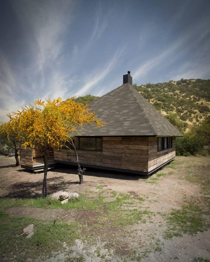 Small Mountain House By Ema Arquitectos Santiago Chile