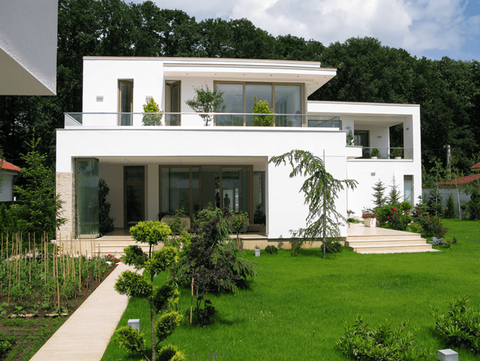 Snagov House White Look For A Stunning Contemporary House