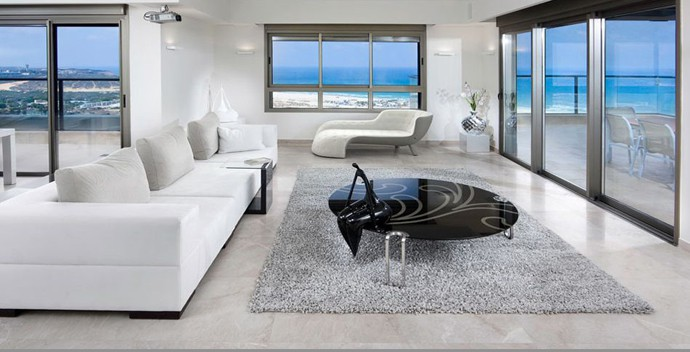 Dreamy White Contemporary Residence Overlooking The Sea